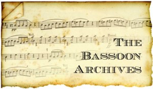 The Bassoon Archives - Resource of 500+ PDFs for bassoon